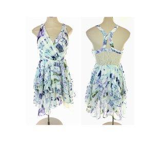 BCBGeneration Mini Party Dress Floral Print Ruffle